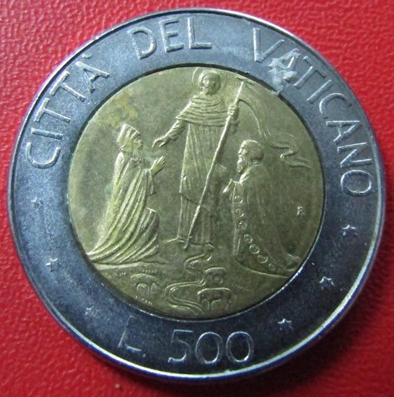 Vaticano Moneda Bimetalica Juan Pablo I I 500 Liras 1990 Unc