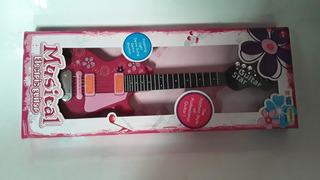 Guitar Star Guitarra Electrica Con Luz Y Sonido @ Mca