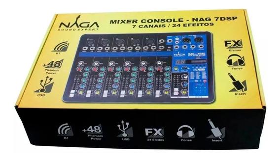 Mesa De Som 7 Canais Naga 7dsp Com Bluetooth Promoção!