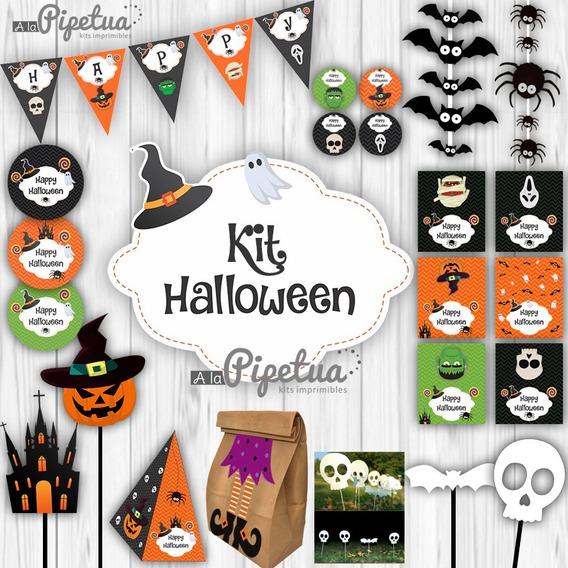 Kit Imprimible Halloween Decoración Día De Brujas