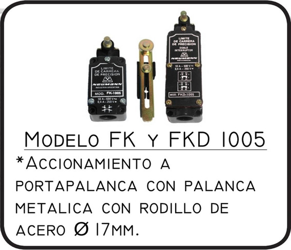 Limite De Carrera Neumann Mod. Fk-1005- Línea Fk1000