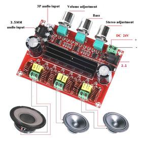 Amplificador 2.1 - 2x50w+100w = 200w Rms Tpa3116d2 12v-24v
