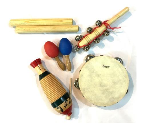 Besser Lt5b Kit Set Percusion Infantil Niños Escuela + Bolso