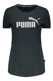 Camiseta Puma Essentials Heather Feminina Verde Mescla