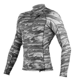 Camiseta Lycra Manga Longa Ultraskin 3a Masculino - Cinza