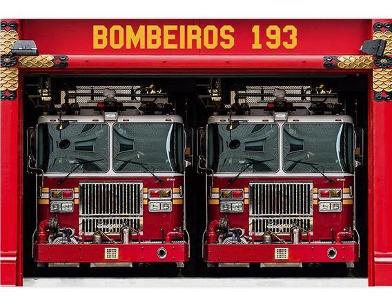 Fundo Fotográfico Bombeiro Infantil Tecido 1,7x2,6 - Ffc-586