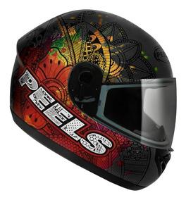 Capacete Motociclista Peels Spike Indie Chumbo E Colorido Nf
