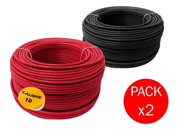 Paquete: 2 Cajas Cable Calibre 10 Thw Alucobre 100m Cada Una
