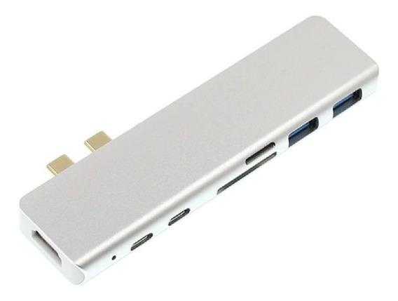 Adaptador Hub Usb Tipo C 7 Em 1 Macbook Pro Hdmi