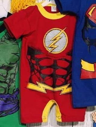 Disfra Body Bebe Superheroes Personajes Algodon Premium Hero