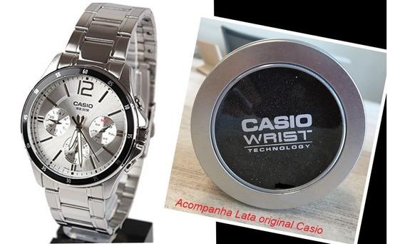 Relógio Pulseira Aço Casio Analógico Mtp1374d-7made In Japan