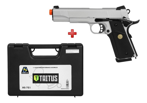 Pistola Airsoft Gbb Double Bell Colt 1911 Full Metal + Case