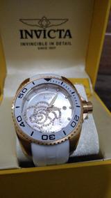 Relógio Feminino Invicta Angel 0488 B. A Ouro 18k C/ Cristai