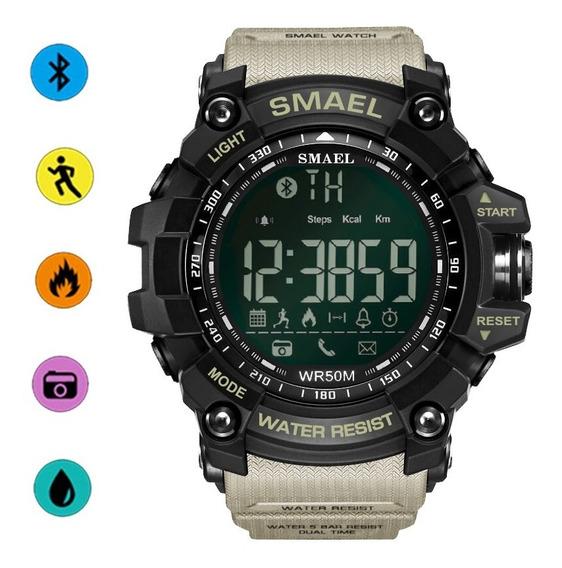 Smael Reloj Bluetooth Podómetro Deportivo Calorías Consumo