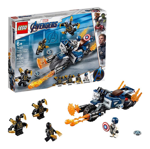 Lego Marvel Avengers Capitán América: Outriders Attack 76123