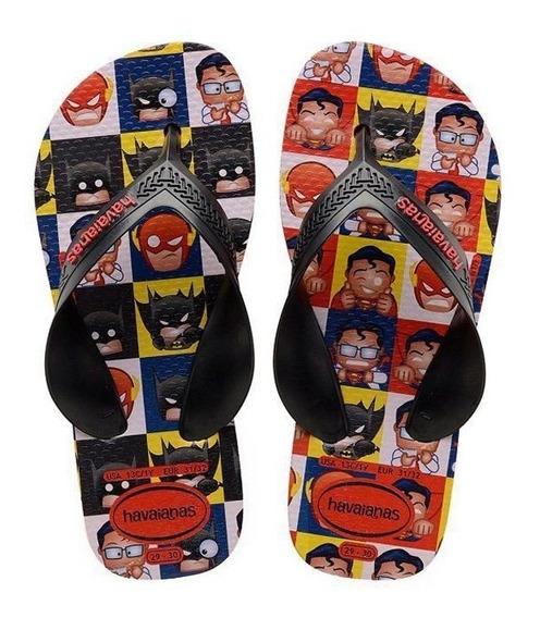 Chinelo Super Heróis Havaianas Infantil Para Meninos.