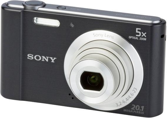 Camera Sony Dsc-w800 Nova Na Caixa Zoom 5x 20.1mp