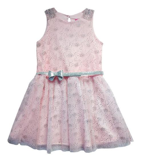 Vestido De Likra Estampado Con Glitter (36113)
