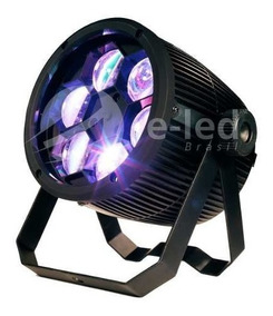 2 Projetor Beam Bee Eye 6 Leds De 12w Rgbw Quadriled Dmx