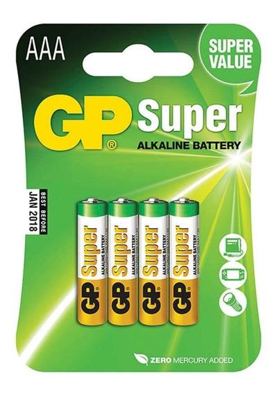 Pilha Alcalina Aaa Super Palito 1.5v C/ 4un Gp Batteries