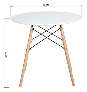 Mesa Comerdor Eames 80cm Blanca - By Arei Design! Buen Fin!!