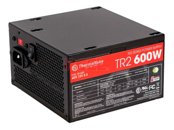 Fuente Pc Thermaltake Tr2 600w Reales 10 Amp Pce