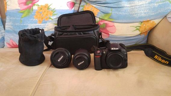 Câmera Profissional Nikon D3100 + Lentes E Acessórios