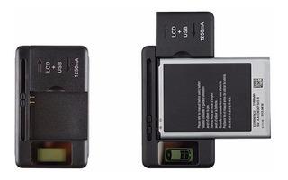 Carregador Universal Bateria De Celular C/ Visor Lcd + Brind