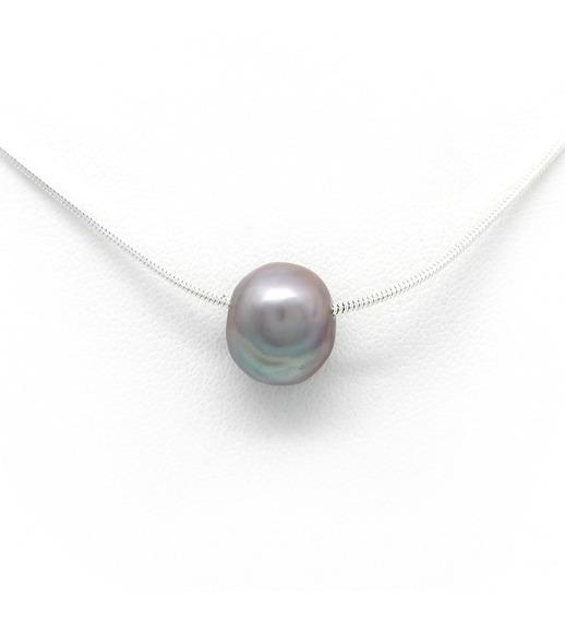 Cadena De Plata Con Perla Mexicana Perlas Del Mar De Cortez