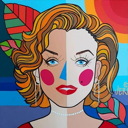 Imagem 1 de 2 de Tela Marilyn Monroe - Artista Plástica Veridiana
