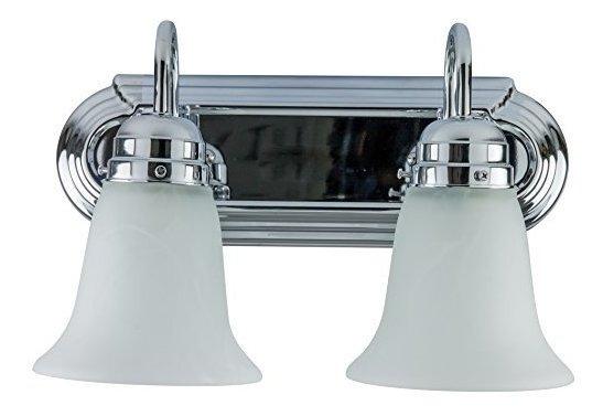 Lámpara De Baño (cristal De Alabastro Decorativo 14 Pulgad