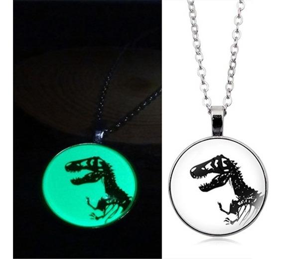Collar Dinosaurio T-rex Brilla En La Oscuridad Envió Gratis