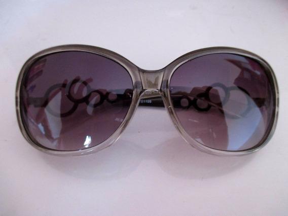 Óculos De Sol Fashion Estiloso Com Cromado Na Lateral