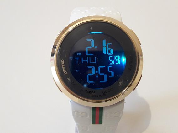 Relógio Digital Gucci Unisex Especial Led 4 Cores + Caixa