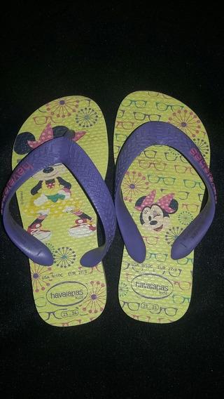 Ojotas Havaianas Minnie Disney 25 26 Original Importada