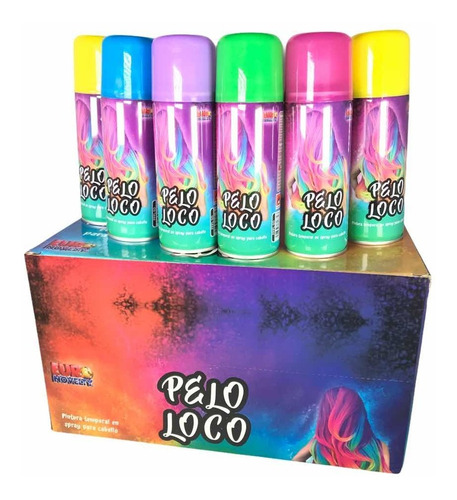 6 Pinta Pelo Loco Spray Tinte Temporal Cabello Vario Colores
