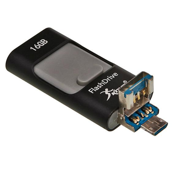 Pendrive 32gb Para Smartphone E Computador 3 Conexões Em 1
