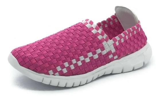 Zapatillas Panchas Elastizadas Estastico Liviana Mujer
