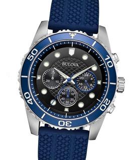 Reloj Bulova 98a190 Chronograph Collection Carcasa Acero 10 Atm Aro Biselado Seguro C Robo Watch Fan Palermo Saavedra