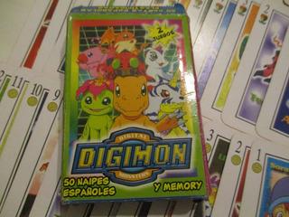 Cartas,naipes Digimon Y Memory, Completo, Envios Consultar