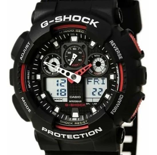 Relógio G-shock Ga-100-1a4dr Nota Fiscal E Garantia