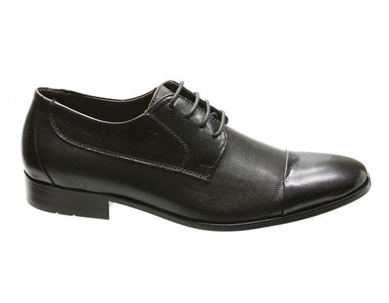 Sapato Social Masculino Oxford Couro 707704 - Frete Grátis