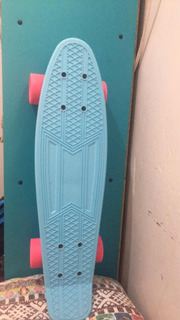 Skate Cruiser X7 Longboard , Rosa E Azul