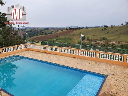 Linda Chácara Com 03 Dormitórios, Riacho, Piscina, Campinho, À Venda, 3000 M² Por R$ 900.000 - Zona Rural - Pinhalzinho/sp - Ch0787