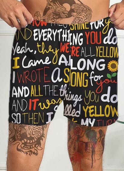Cueca Samba Canção Chris Martin Yellow Música Tumblr Rock Banda