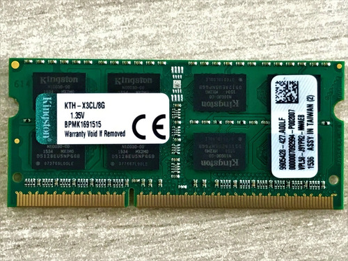 Imagem 1 de 5 de Memoria Kingston Ddr3 Kth-x3cl / 8gb 1600mhz (com Nf-e)