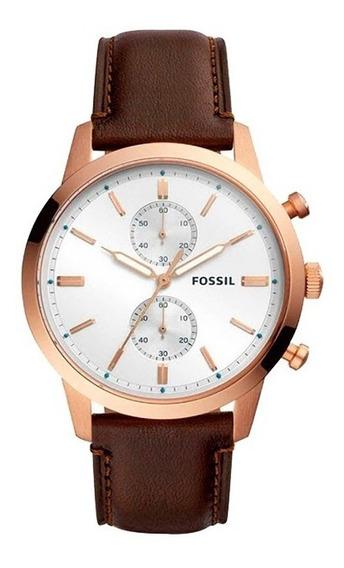 Reloj Fossil Fs5468 Para Caballero Correa De Piel