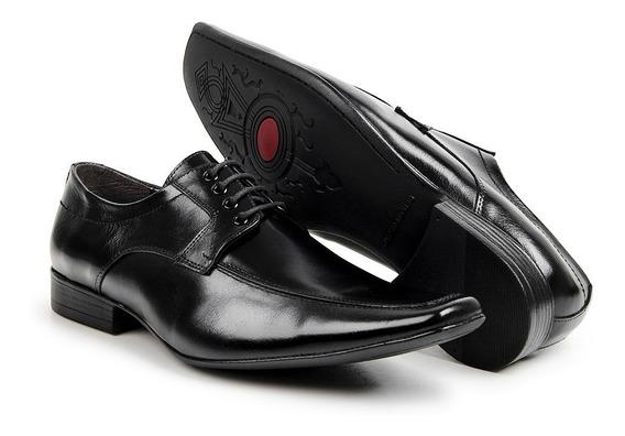 Sapato Masculino De Amarrar Social Bico Fino Estilo Italiano