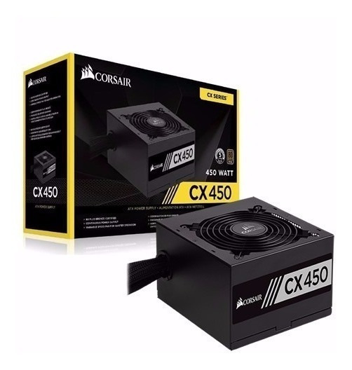 Fonte Corsair Cx450 450w 80plus Bronze Atx12v Cp-9020120-ww