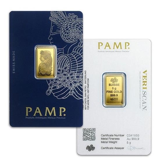 Lingote Oro Pamp Suisse 5 Gramos Veriscan 24 Kilates 999